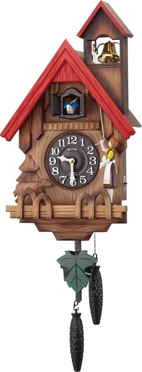 リズム時計 RHYTHM カッコー時計 カッコーチロリアンR 本格的ふいご式 濃茶ボカシ木地仕上 4MJ732RH06 B00L55CU7U