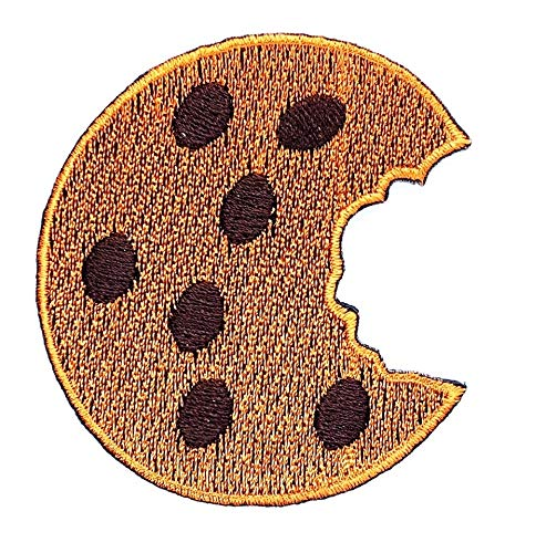 Chocolate Chip Cookie Delicious Dessert Food Cartoon Children Kid Patch Clothes Bag T-Shirt Jeans Biker Badge Applique Iron on/Sew On Patch