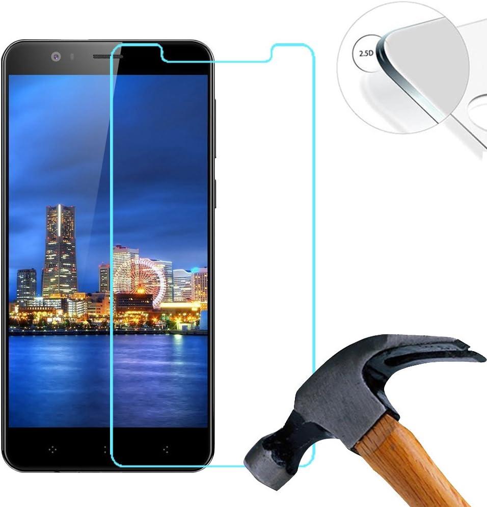 Lusee 2 X Pack Protector de Pantalla, Cristal Templado para Elephone P8 Mini 5.0 Pulgada, Vidrio Templado con 9H Dureza Alta Transparencia 0,3mm 2.5D: Amazon.es: Electrónica