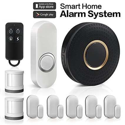 HQTECHFLY Wireless Home Security Alarm System Anti-theft Siren App for Android IOS Smartphone 1