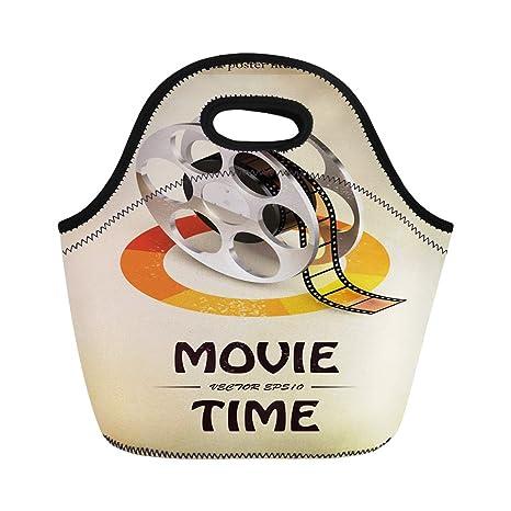 192b261f6722 Amazon.com: Semtomn Lunch Bags Camera Silver Television Cinema Movie ...