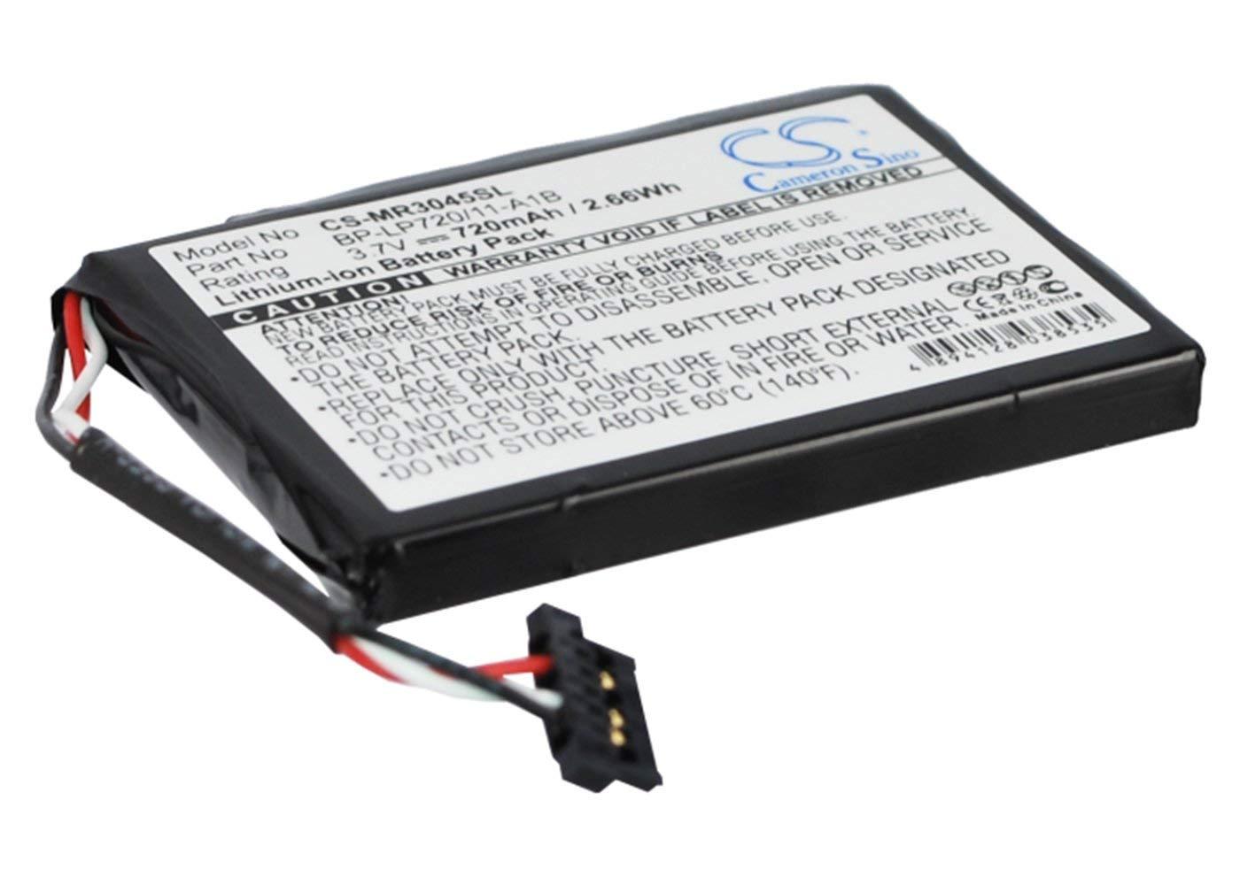 RoadMate 3045-MU, RoadMate 3045-LM VINTRONS 720mAh Battery For Magellan RoadMate 3045