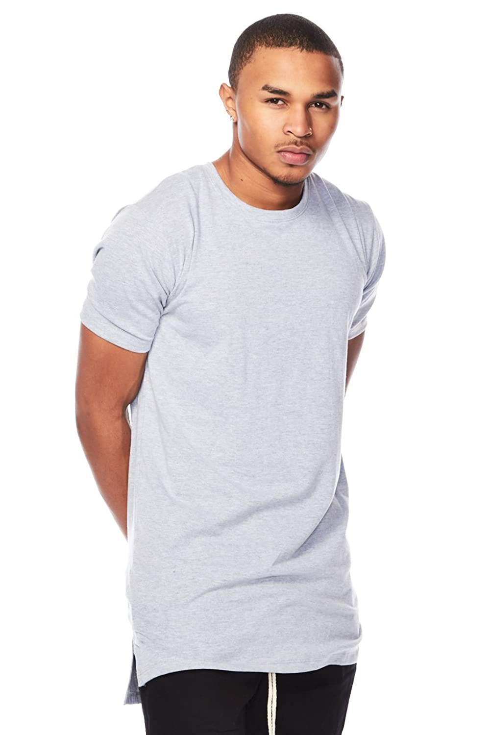 Mens Slim Fit Basic Solid Short Sleeves Round Neck Tee Top Shirt 1509