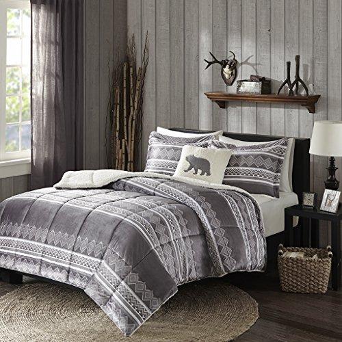 Woolrich Anderson Mink Down Alternative Comforter Set Grey T