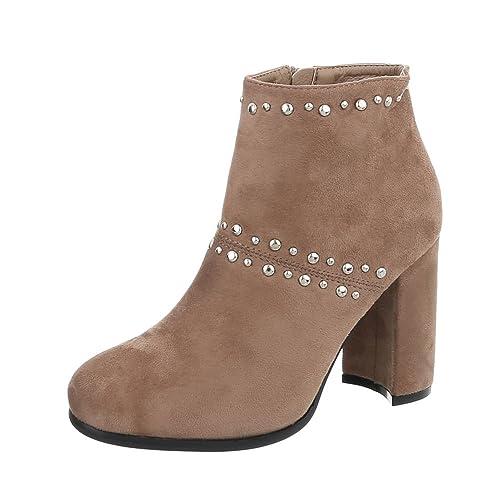 Ital-Design - Zapatos con tacón Mujer , color marrón, talla 39