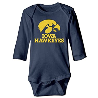 87254b3ab Baby Boys Girls University Of Iowa Mascot Hawkeyes Onesies Bodysuit