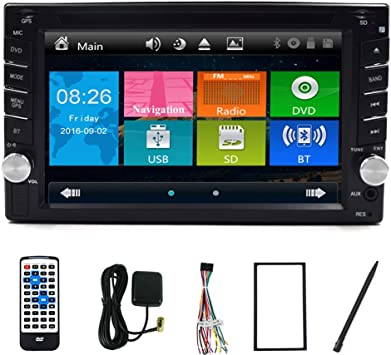 PC 6.2 pulgadas de doble CD 2 DIN en Dash GPS navegación Bluetooth ...