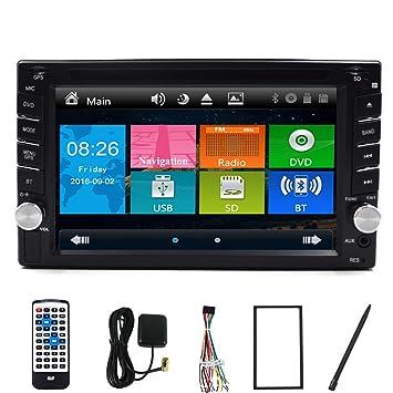 PC 6.2 pulgadas de doble CD 2 DIN en Dash GPS navegación Bluetooth estéreo de coche