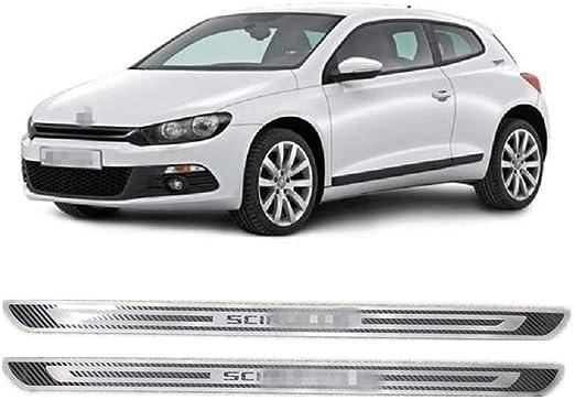 para Volkswagen Touareg 2011-2018 Coche Patada Pedal Door Sill Antideslizante Tira Protecci/ón Accesorios Decorativos NA 4Pcs Externo Barra Umbral Puerta Acero Inoxidable