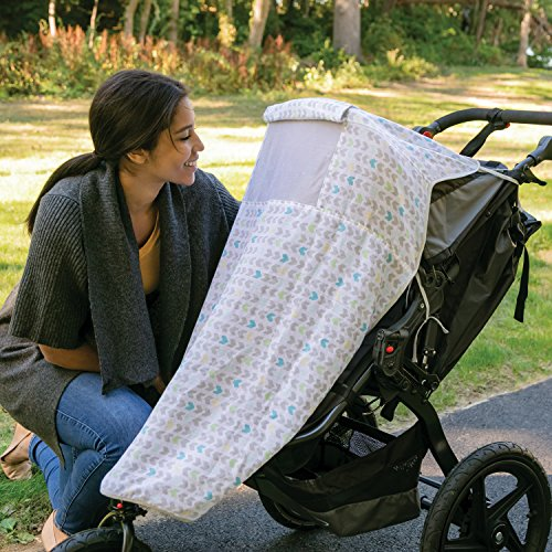 Image of the Summer Infant Muslin Stroller Blanket, Arrow Stripe