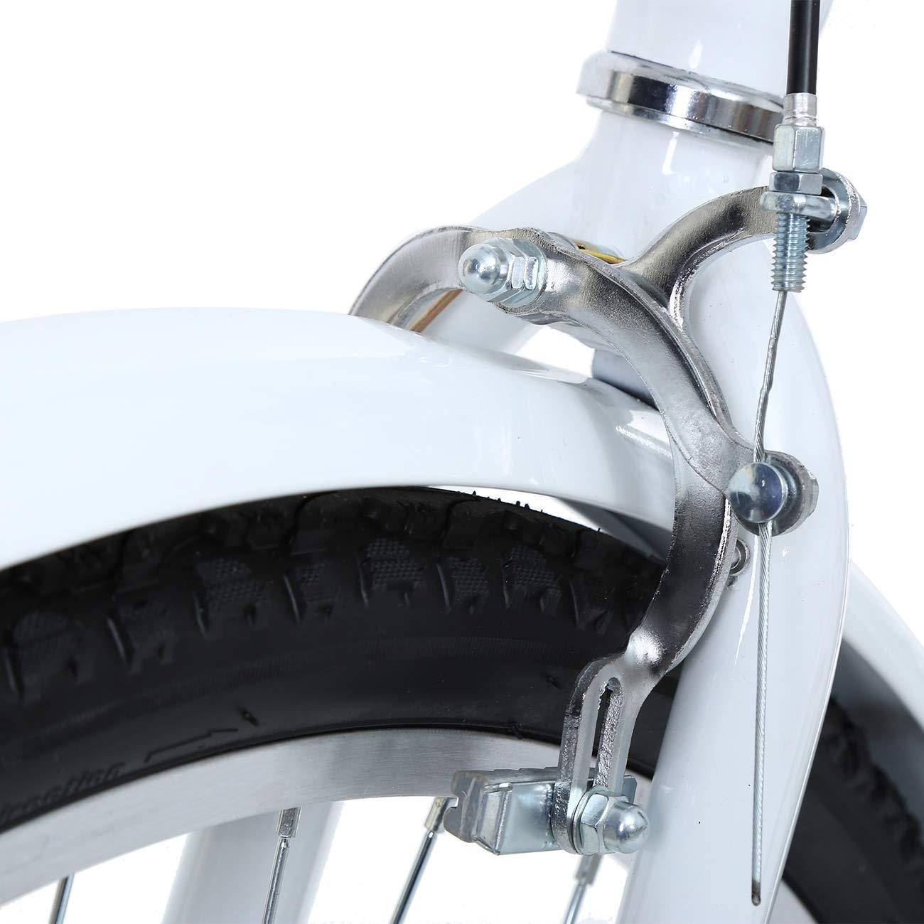 Muguang Dreirad F/ür Erwachsene 26 Zoll 7 Geschwindigkeit 3 Rad Fahrrad Dreirad mit Korb(Wei/ß