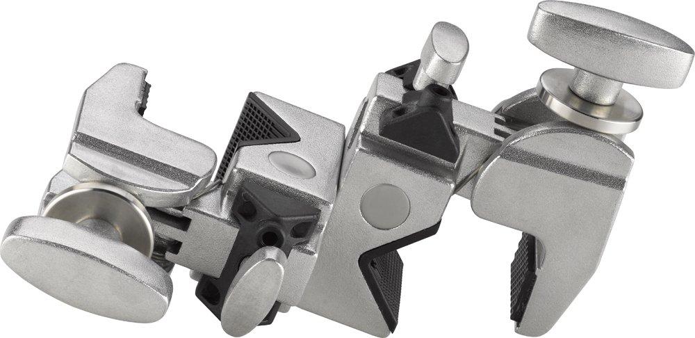 Kupo Double Convi Clamp - Silver, KG702512