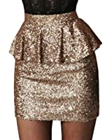 Ragstock Women's Sequin Mini Skirt at Amazon Women's Clothing store: