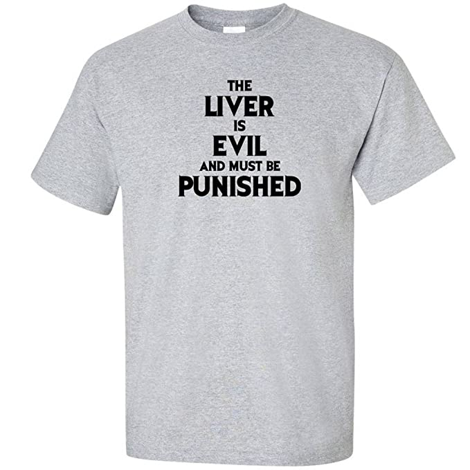 The Liver Is Evil and Must Be Punished Funny Drinking Bar Crawl Hoodies