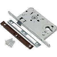 KOTARBAU® Insteekslot 72/55 mm DIN links profielcilinder slot deurslot met tegenplaat staal verzinkt topkwaliteit…