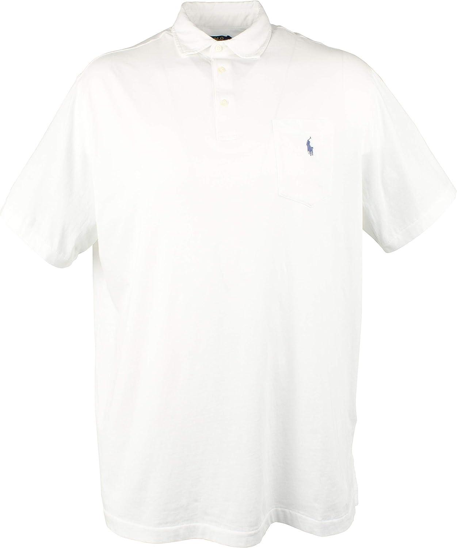 New POLO RALPH LAUREN Men/'s Classic Short Sleeve BLUE  Polo Shirt Pocket  sz LG