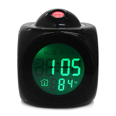 Clock Time - Original Alarm Clock Vibe Lcd Talking Projection Time Amp Temp Display Reveil Relojes