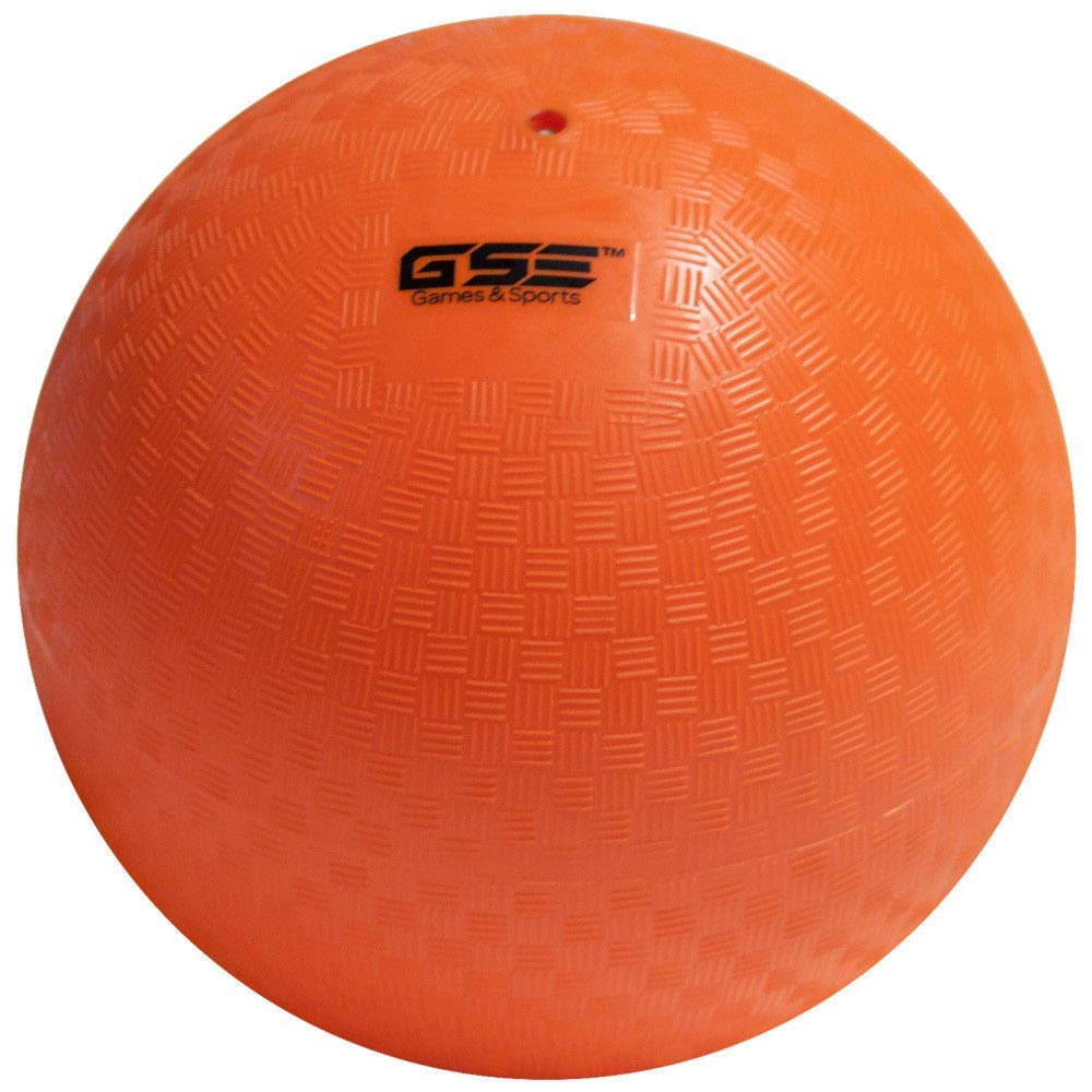 GSE Games & Sports Expert 10-inch Classic Inflatable Playground Balls (5 Colors Available) (Single - Orange)