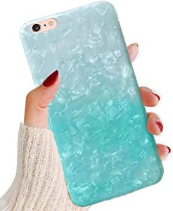 J.west iPhone 6S Plus Case,iPhone 6 Plus Case Cute Phone Case Girls Women Glitter Pretty Design Sparkle Translucent Clear Bumper Slim TPU Soft Silicone Back Cover Case for iPhone 6Plus/6s Plus 5.5inch