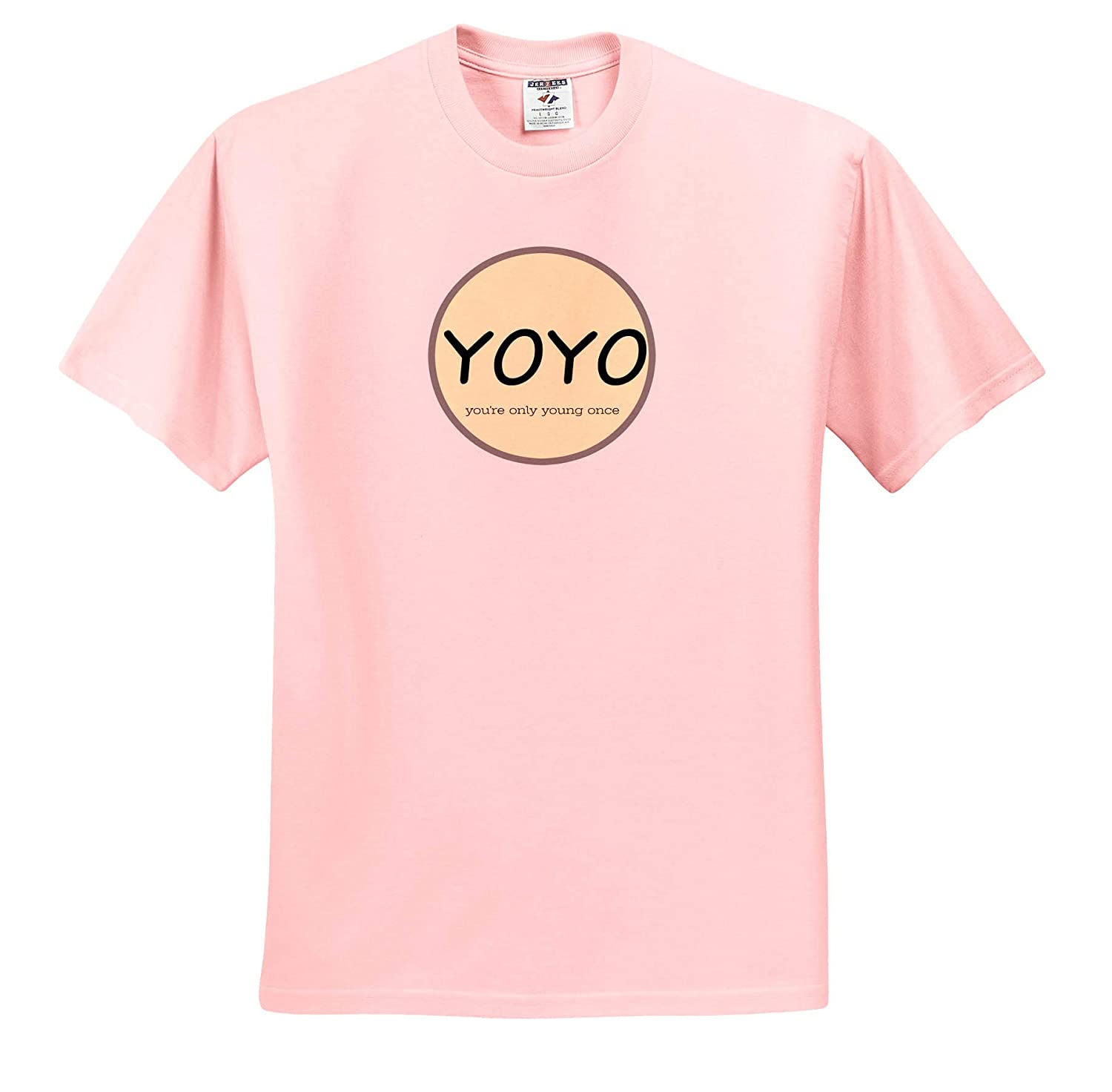 Adult T-Shirt XL 3dRose Carrie Merchant Image Image of Yoyo You are Only Young Once ts/_309570