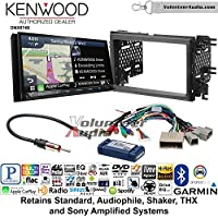Volunteer Audio Kenwood DNX874S Double Din Radio Install Kit with GPS Navigation Apple CarPlay Android Auto Fits 2007-2010 Edge (With factory amplified sound)