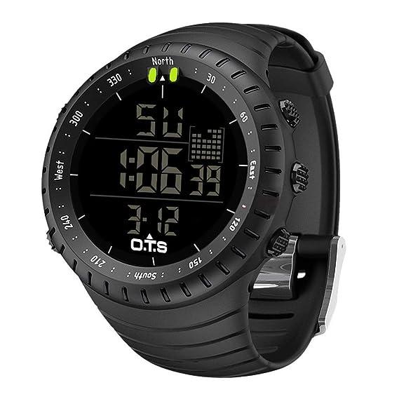 d07dd9385e4a Palada - Reloj de pulsera digital para hombre con movimiento de cuarzo y  retroiluminación LED