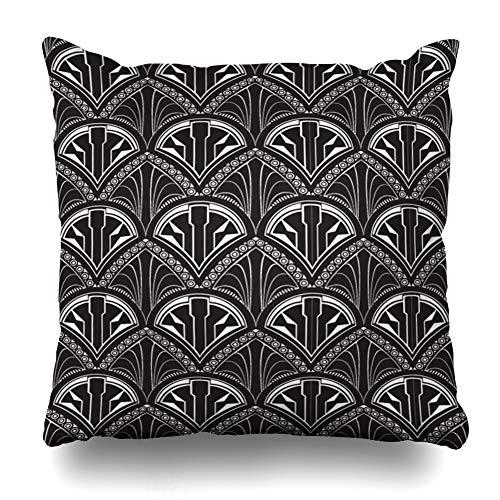 Suesoso Decorative Pillows Case 18 X 18 Inch Art Deco Repeat Wallpaper Throw Pillowcover Cushion Decorative Home Decor Garden Sofa Bed Car
