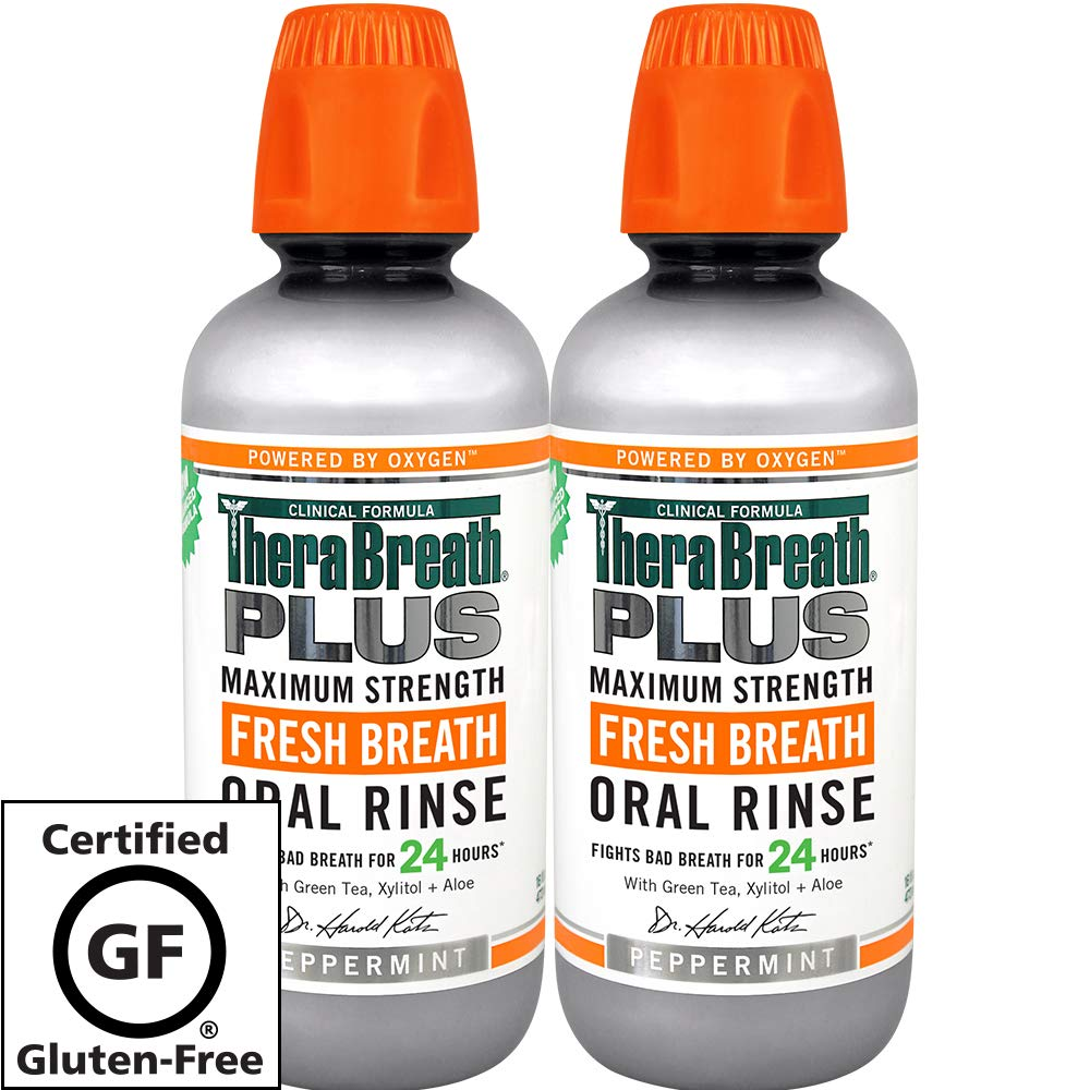 Amazon.com: TheraBreath PLUS Oral Rinse – Dentist Recommended – Maximum-Strength Oral Rinse – Stops Morning Breath – Certified Kosher – Approved for ...