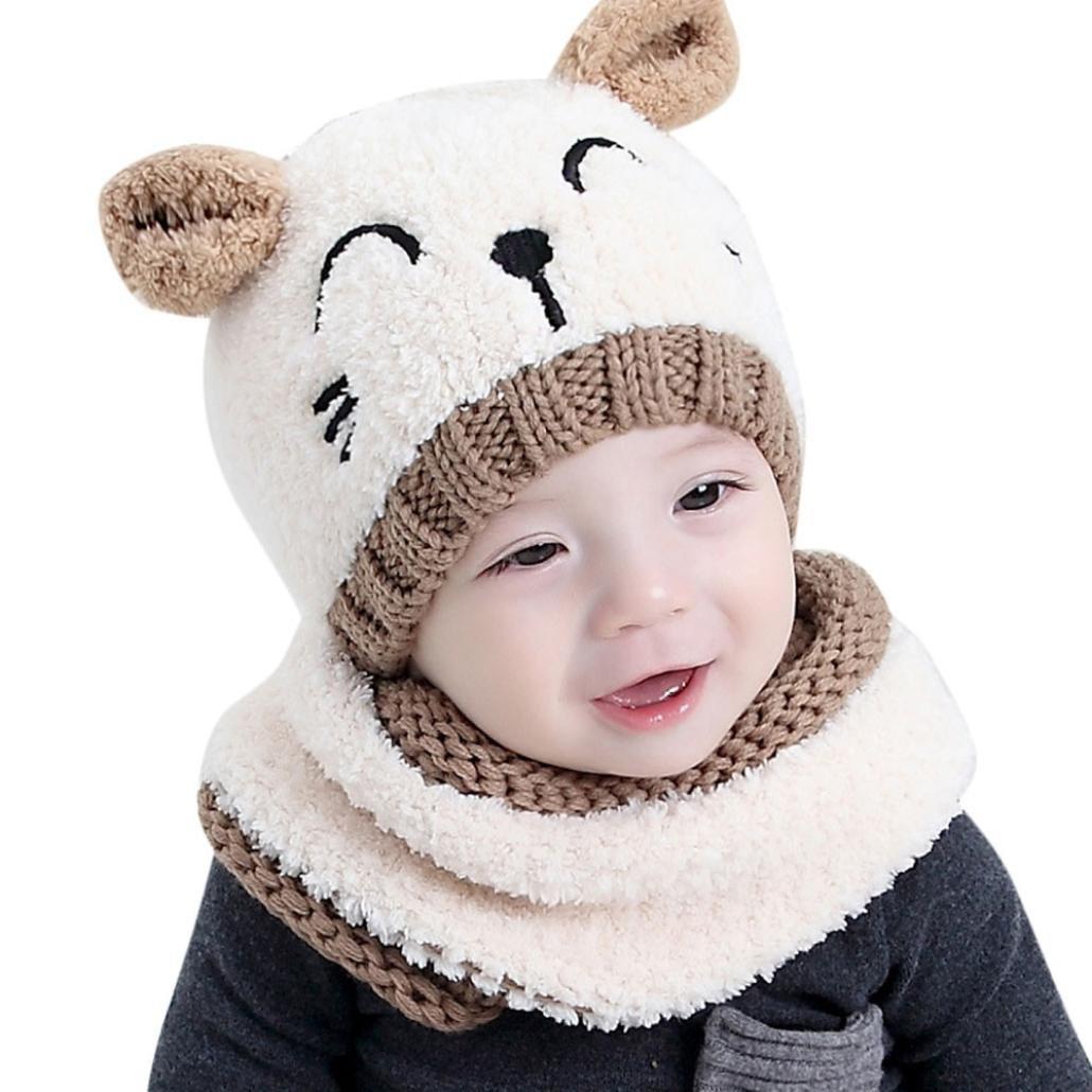Bufandas del Bebé,Xinan Invierno Niño Niña Sombrero + Bufanda Dos ...