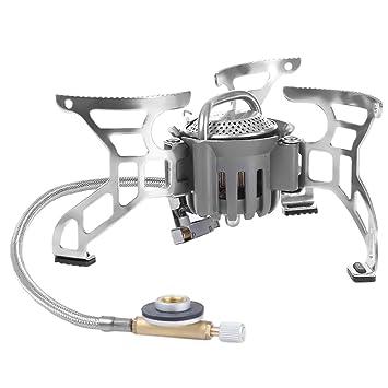 Al aire libre estufa de Camping plegable Split Gas Estufa Quemador De Picnic estufa cocina arrancador de fuego encendedor dispositivo de encendido al aire ...