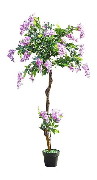 5 ft Künstliche Wisteria Baum mit Blumen in einem Topf – künstliche ...