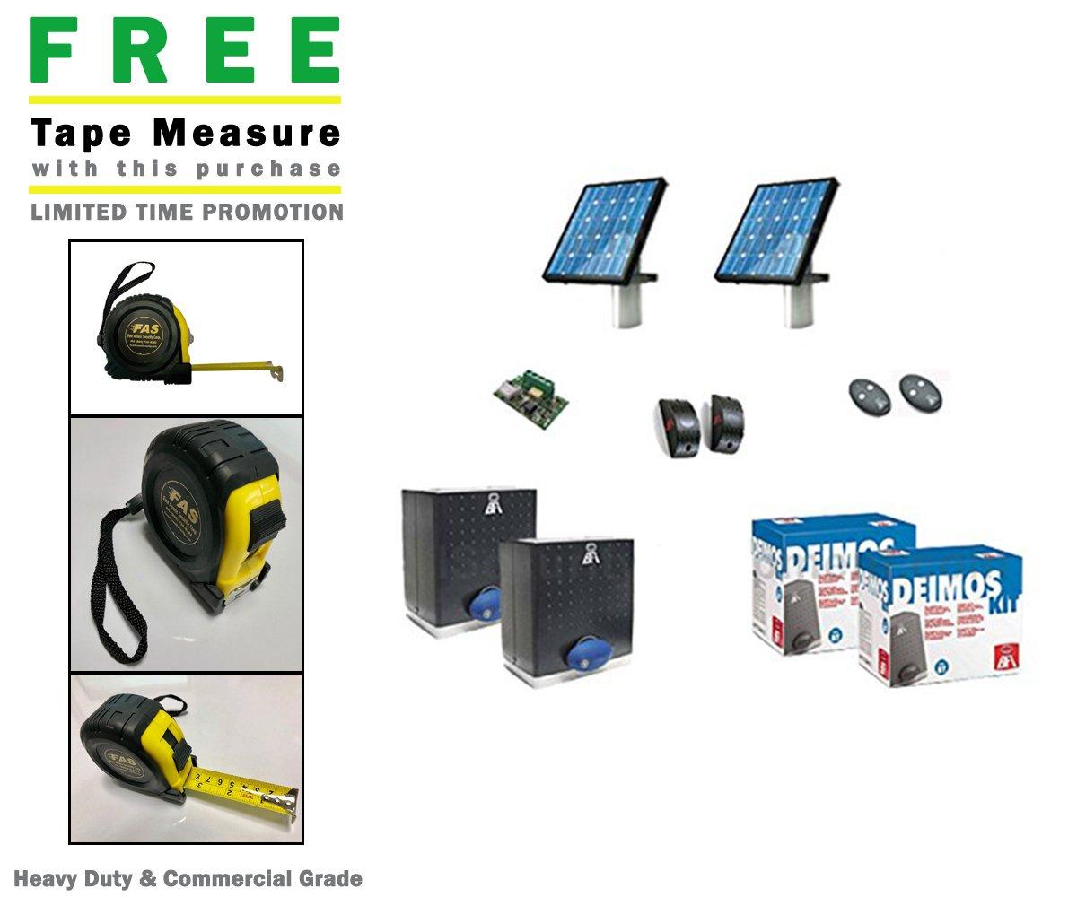 Amazon com: BFT Deimos BT Solar Slide Dual Gate System Kit