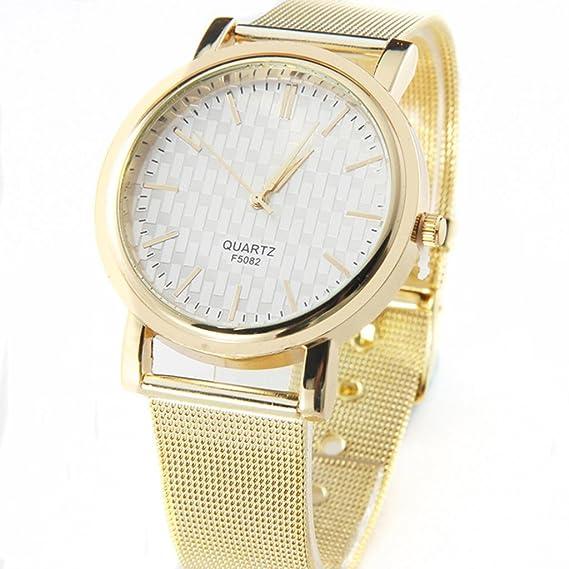 Classic Reloj de pared, diseño de mujer Quartz Puño de acero inoxidable, diseño de