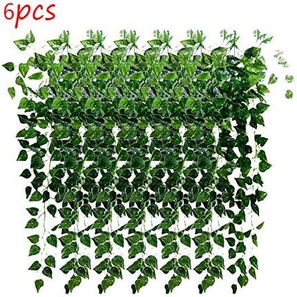Artificielle Lierre Vigne 2 Pcs Artificielle Suspendue Vigne Plantes Faux Verdure Lierre Guirlande pour Le Mariage Mur Ext/érieur Suspendus Planteur Cl/ôture Treillis