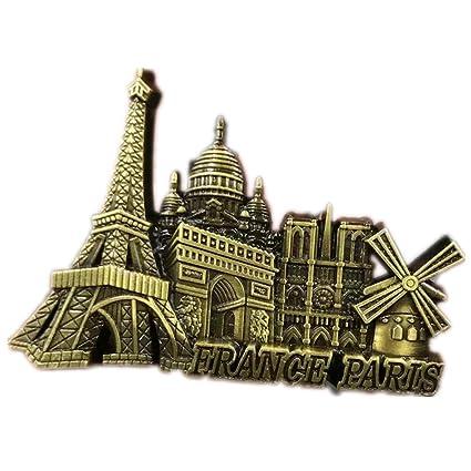 Amazon com: Paris France Fridge Magnet World City 3D Metal