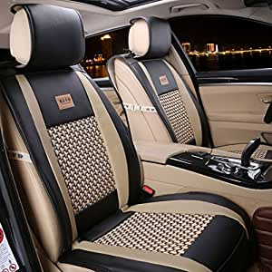freesoo car seat covers full set pu leather car seat covers for 5 seats vehicle. Black Bedroom Furniture Sets. Home Design Ideas
