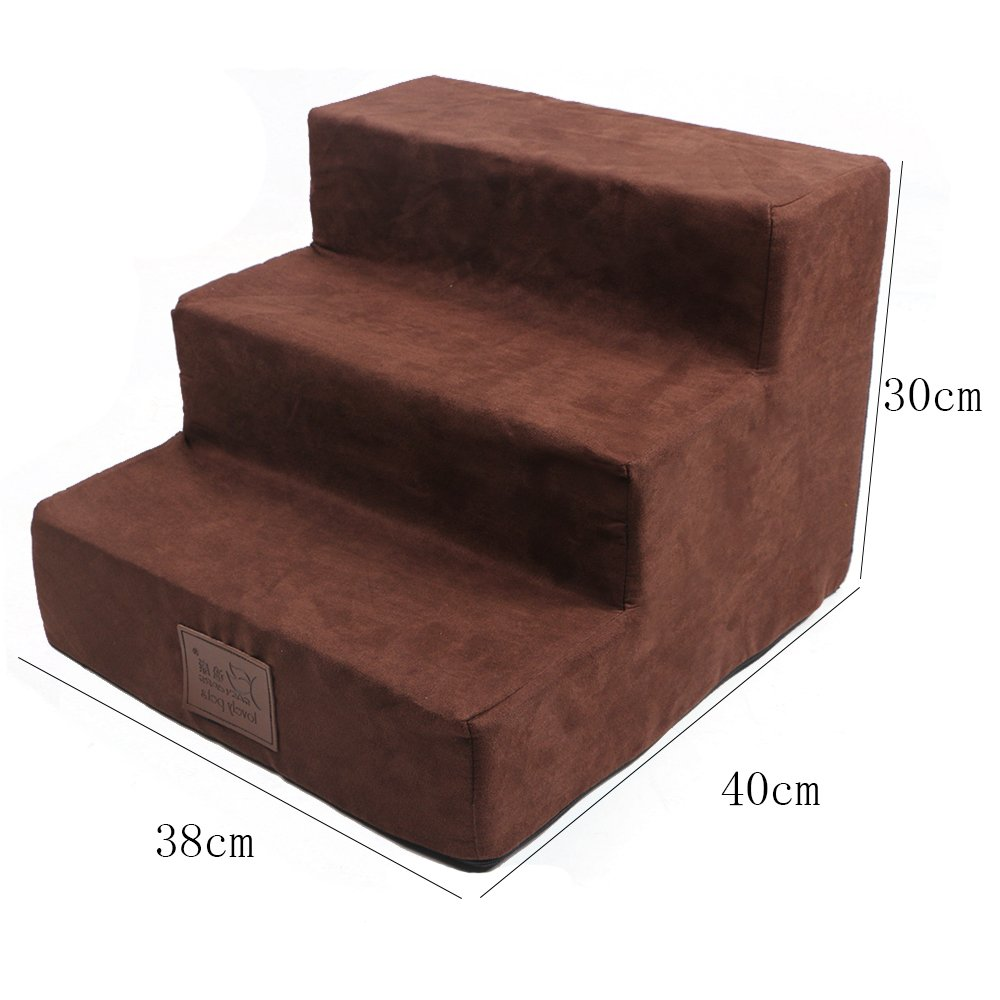 I-sport Comfort Foam Easy Step Pet Stairs 3-Step Ramp Ladder Small Animals Pet Cats Dogs Steps