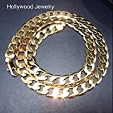 Hollywood Jewelry 24K Gold Chain Necklace 9MM