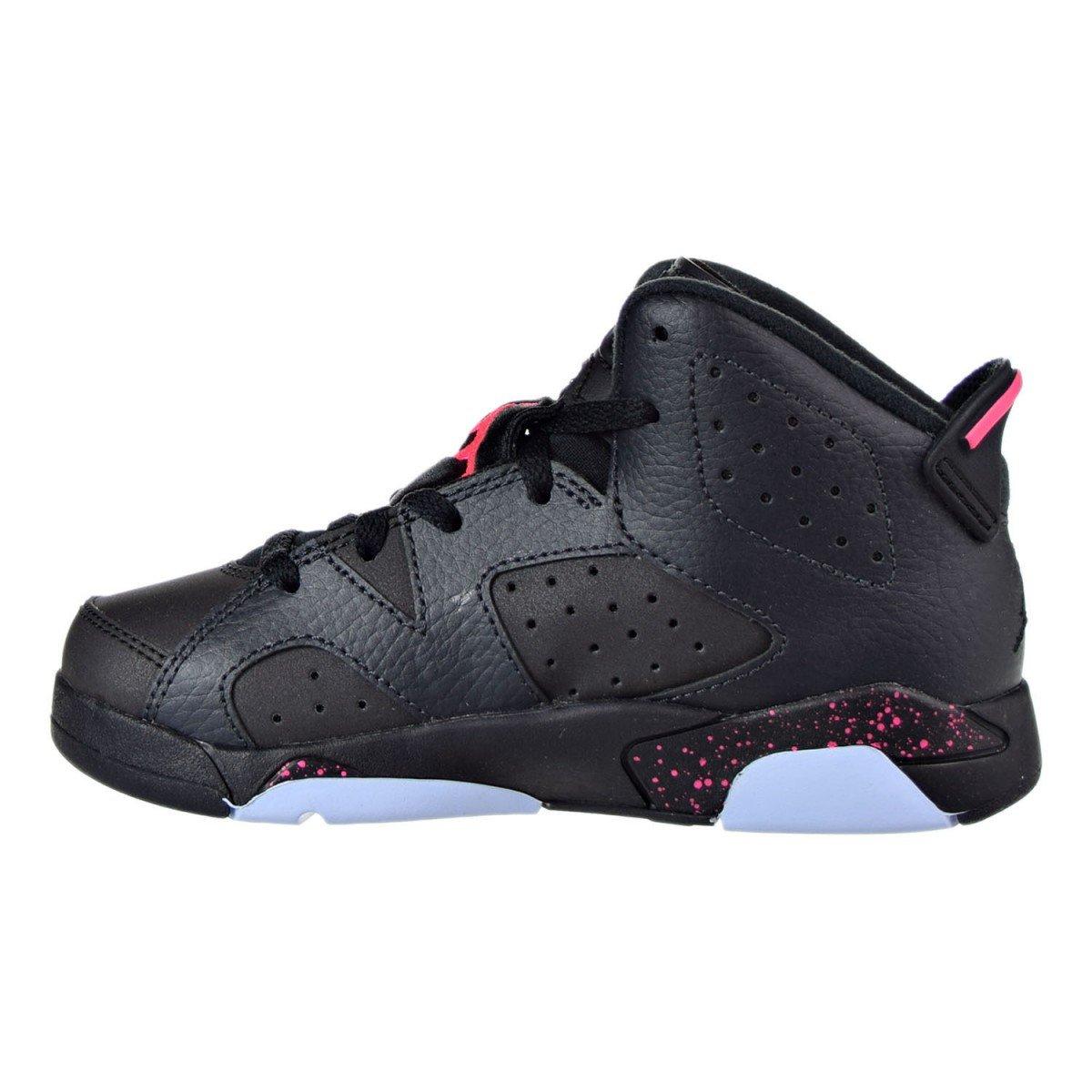 Air Jordan Little Kids Retro 6 Anthracite/Black/Hyper Pink/Black (3)