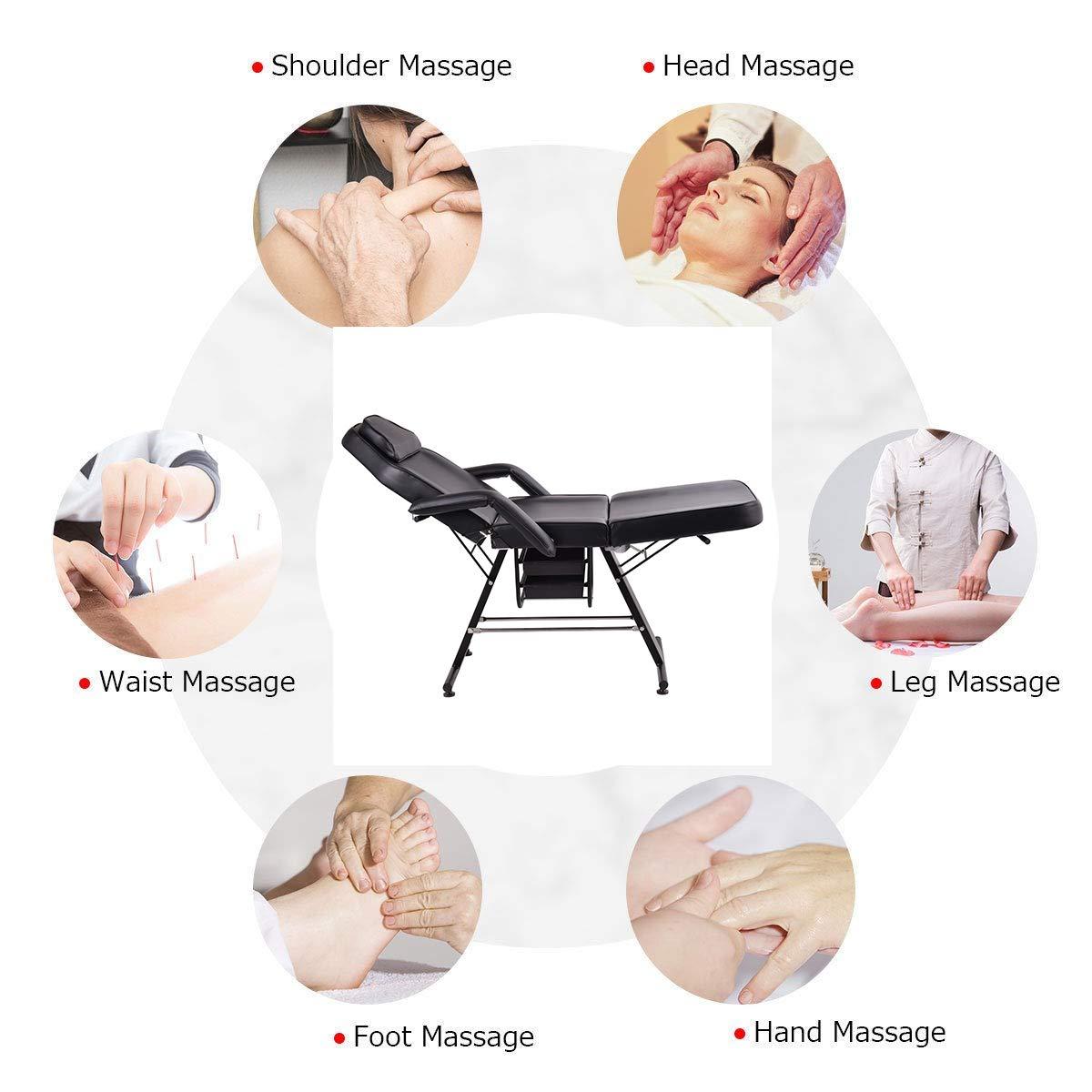 Amazon.com: Silla de mesa de masaje ajustable, color negro ...
