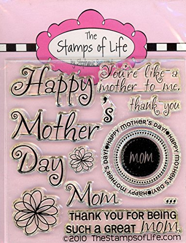 The Stamps of Life All4Moms Clear Stamps for Card Making and Scrapbooking (4x4 inch sheet) by Stephanie Barnard - Mothers Design and sentiments