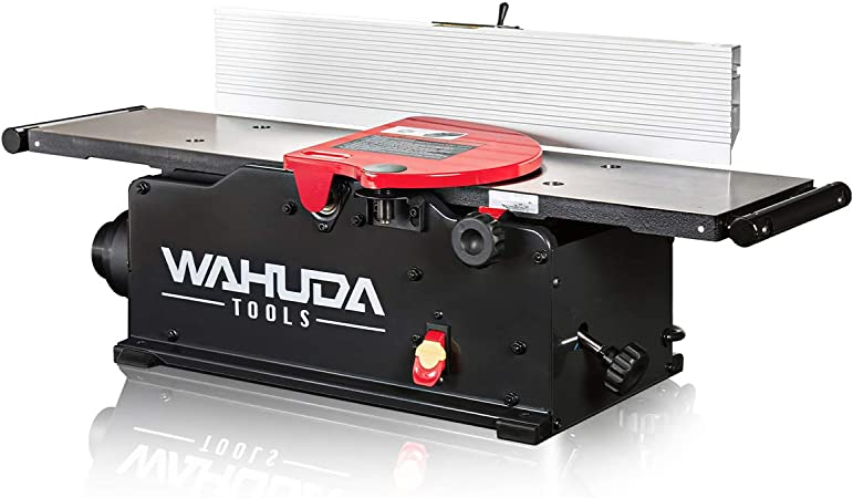 Wahuda Tools Jointer 8 Inch Benchtop Wood Jointer Spiral Cutterhead Portable Jointer Cast Iron Tables W Pull Out Extensions 4 Sided Carbide Tips 10amp Motor Woodworking Tools 50180cc Whd Amazon Com