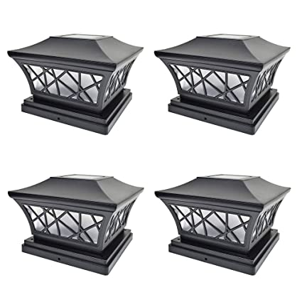 Led Weihnachtsbeleuchtung Komet.Landscape Walkway Lights 1 Pc Solar Black Post Cap Lights With 2
