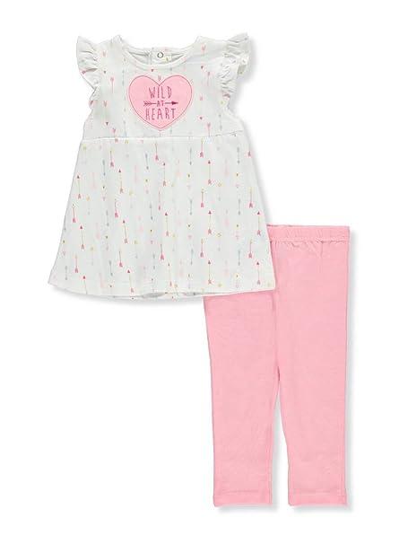 Amazon.com: Bon Bebe Baby Girls 2 Piece Dress and Jegging ...