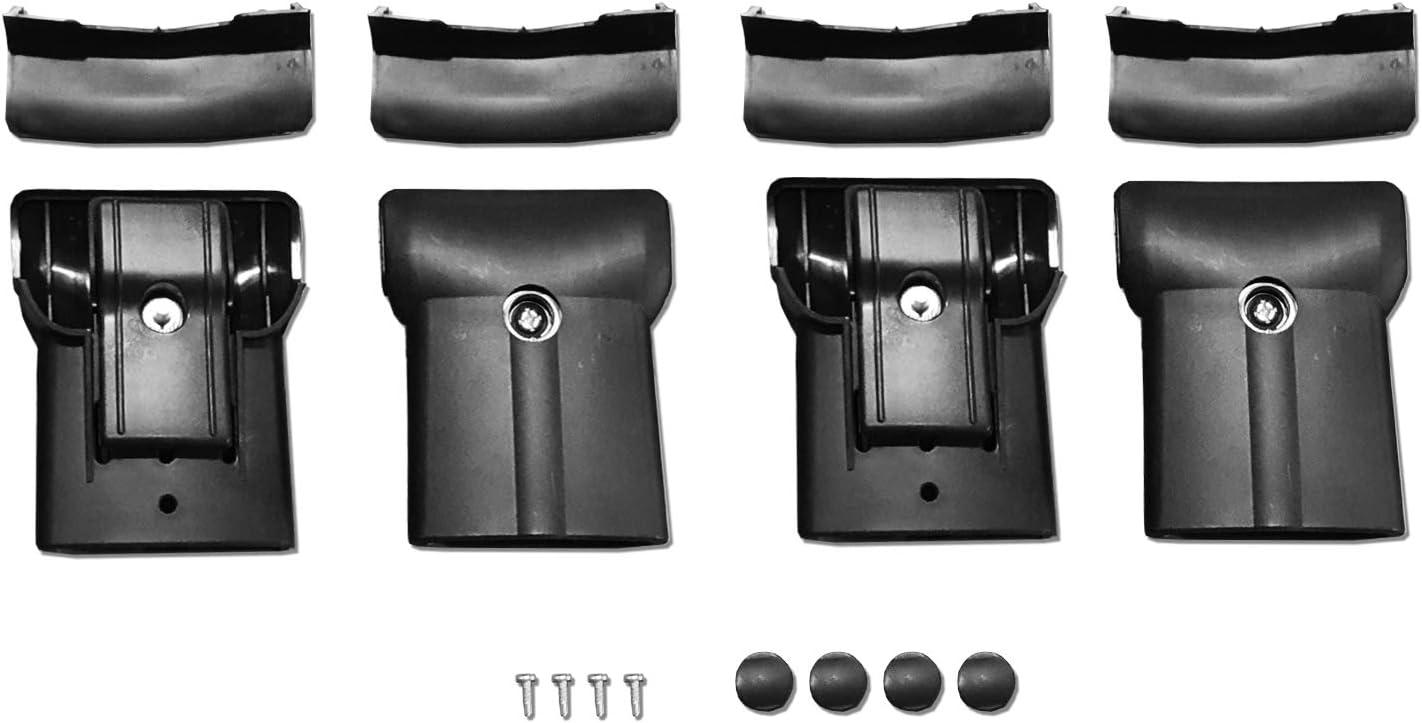 accessorypart Pour Dacia Duster 2014-2018 Barres de Toit Porte-Bagages de voiture en Alu Noir