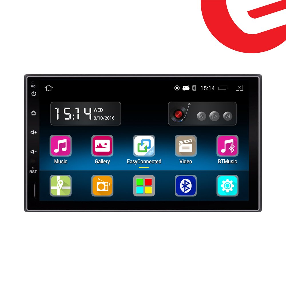 Ezonetronics Android 5.1 FM/AM Car Radio Stereo 2Din 7 inch Capacitive Touch Screen GPS Navigation Bluetooth USB SD Mirro Link Player 1G DDR3 + 16G NAND Memory Flash CT0009 by Ezonetronics