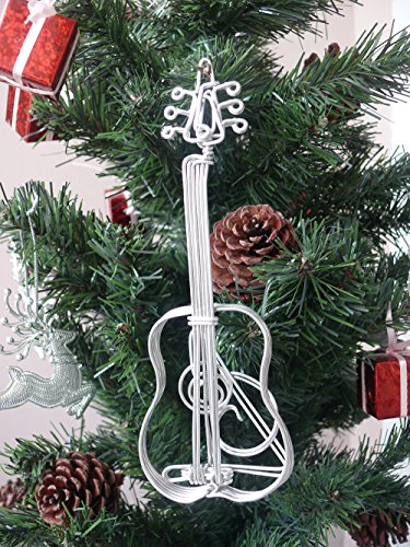 Christmas Music Instruments Only - Metal Wire Gift Art Handmade Guitar Acoustic Music Christmas Ornaments Musical Instrument Christmas Ornaments Craft Decor Toys Music Christmas Birthday Decorations Party supplies