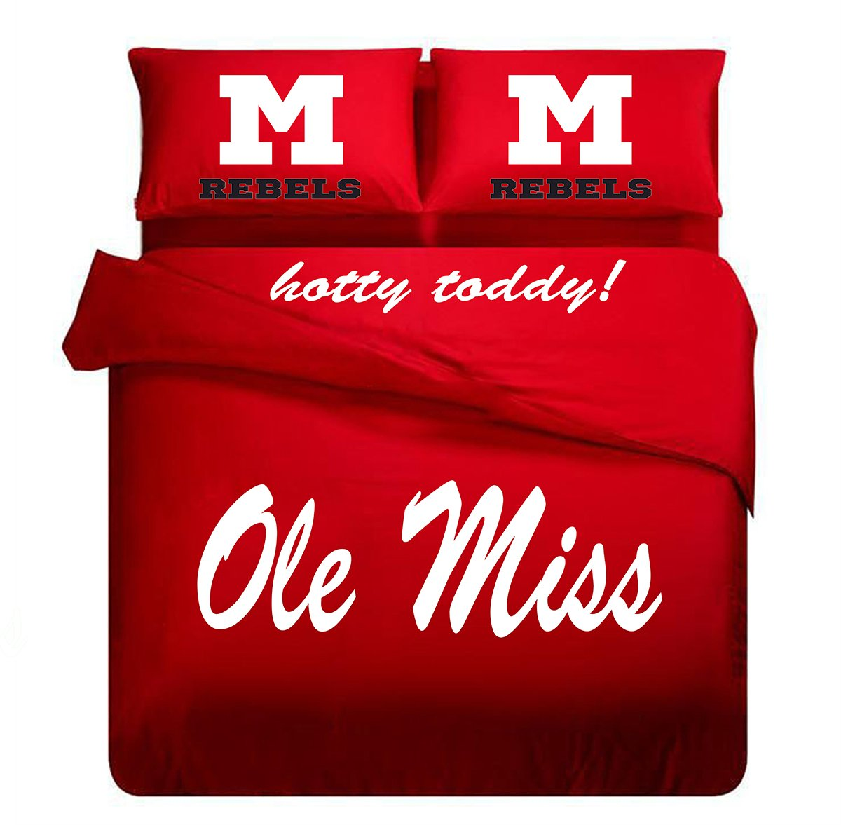 Ole Miss College Red Duvet Cover , Ole Miss Bedding