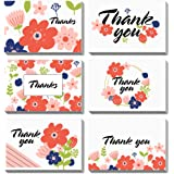 PACKQUEEN 48 Thank You Cards with Envelopes, Thank You Note Cards, Greeting Cards Assortment(Floral )