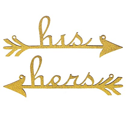 Amazon Tinksky His And Hers Arrow Chair Signs For Wedding Party